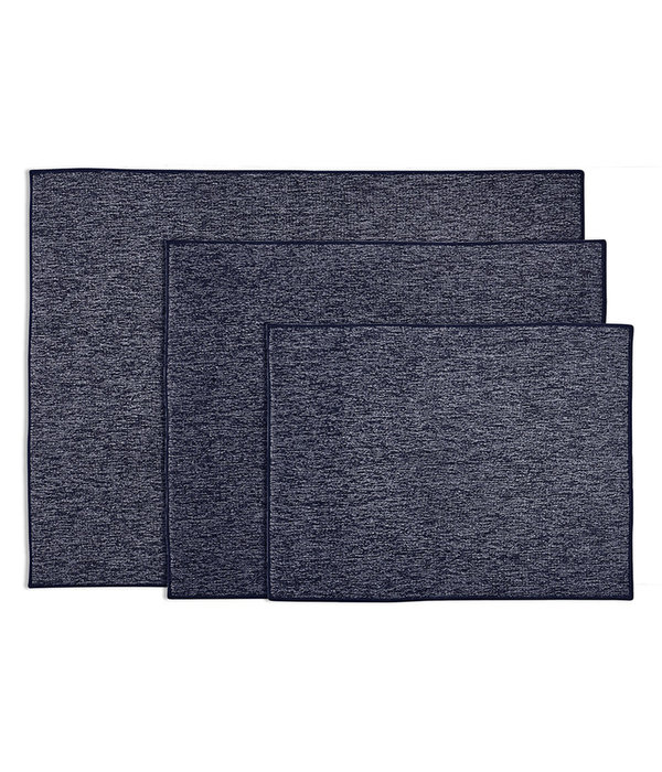 Harman ''Well Kept'' Heathered Drying Mats Navy Set of 3