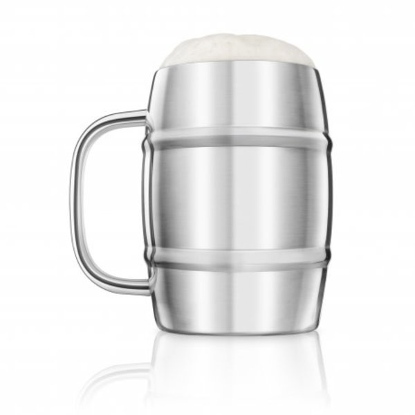 Final Touch Double-Wall Beer Keg Mug