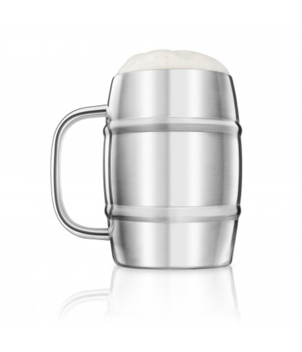 Final Touch Final Touch Double-Wall Beer Keg Mug