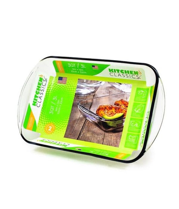 Kitchen Classics 3 qt Rectangular Baking Dish