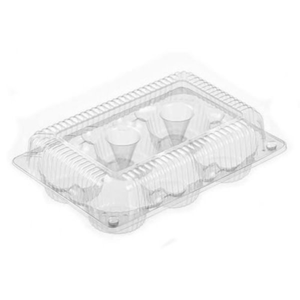 Plastic Container for 6 Muffins