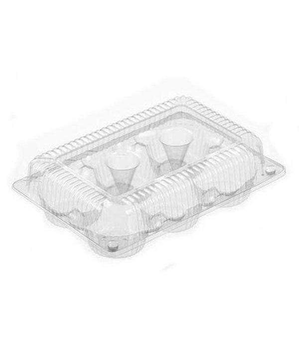 Contenant en plastique pour 6 muffins