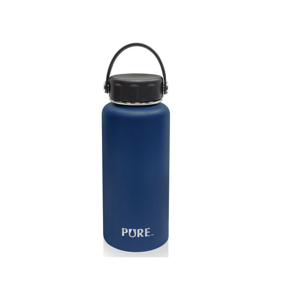 Pure 1L Double-wall stainless steel Bottle, blue