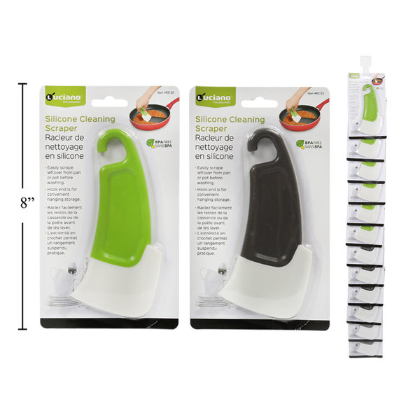 Luciano Silicone Cleaning Scraper, 2 available colors