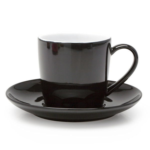 BIA Tasse cappuccino & soucoupe, noir