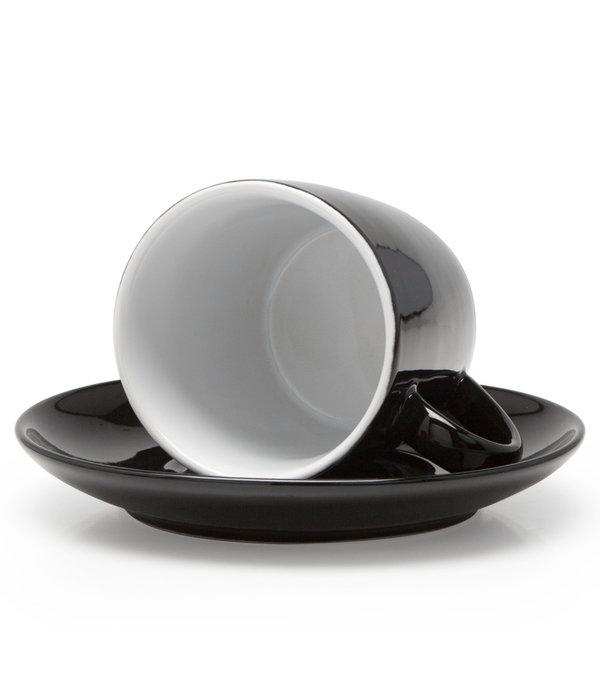 BIA Cordon Bleu BIA Cappuccino Cup & Saucer, black