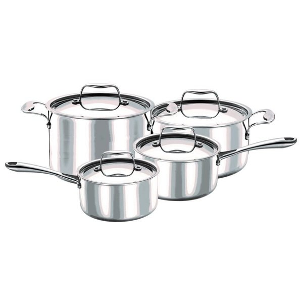 Strauss 3-ply Integral 8pc Cookware Set