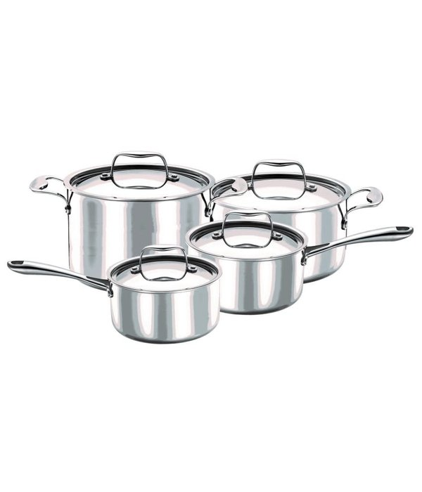 Strauss Strauss 3-ply Integral 8pc Cookware Set
