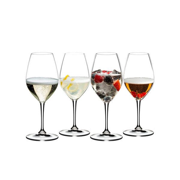 Ensemble 4 verres cocktail à base de Champagne de Riedel