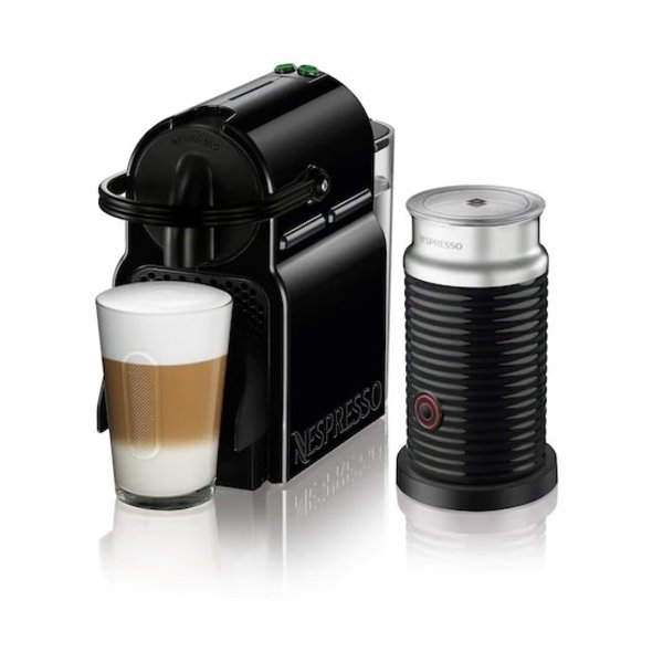 Nespresso Inissia Black with Aeroccino