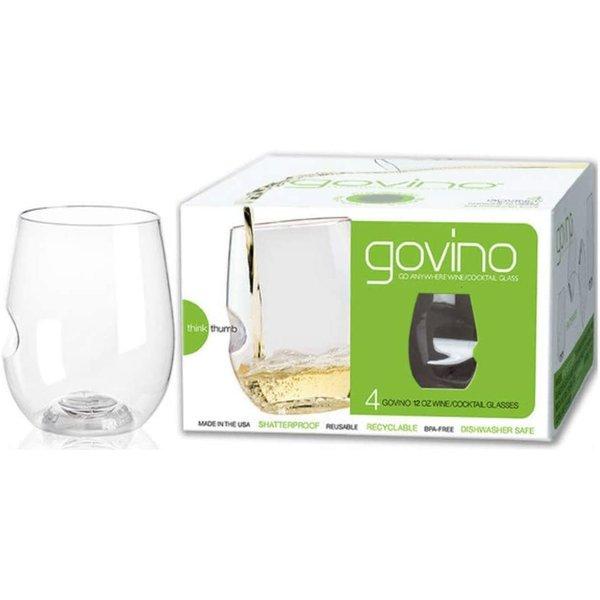 Ensemble de 4 verres à vin 355ml/12oz de Govino
