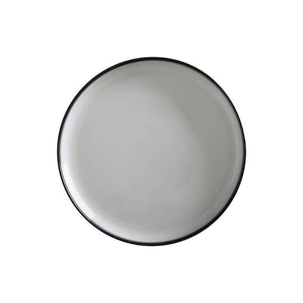 """Assiette haute 28cm Granite """"Caviar""""  de Maxwell & Williams"""