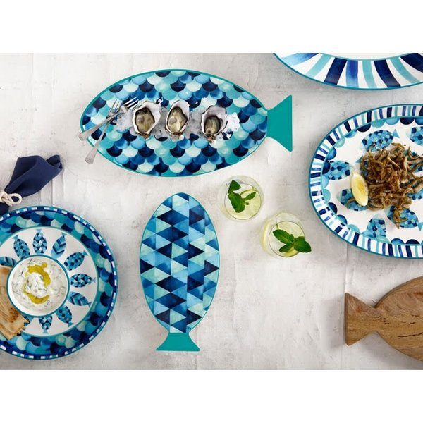 "Assiette service en forme de poisson 30cm ""Reef ""  de Maxwell & Williams"