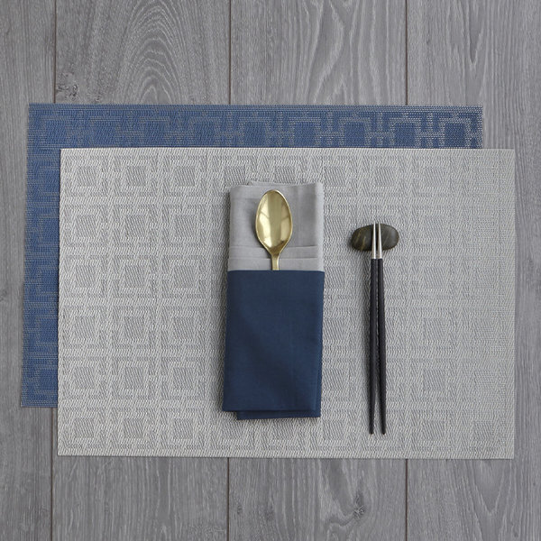 Harman Squares Vinyl Grey Placemat