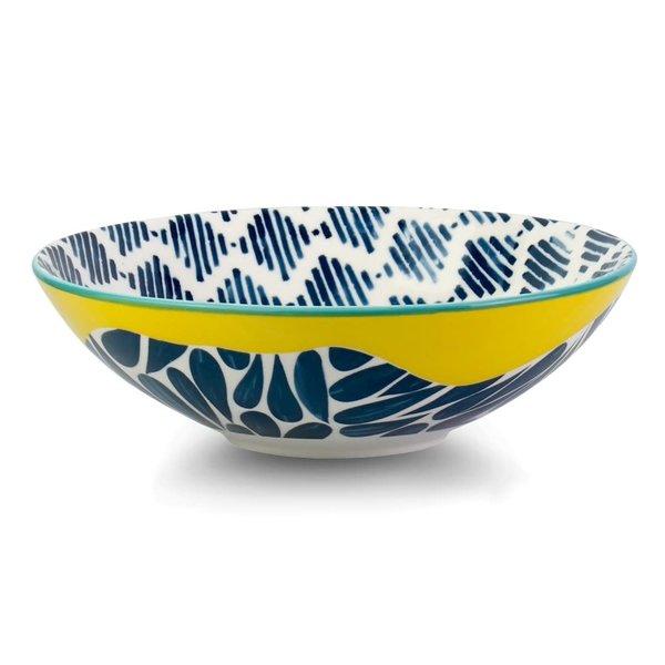 Brilliant Cobble Yellow Poke Bowl, 21 cm