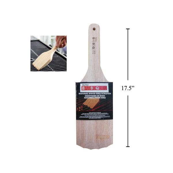 """BBQ Deluxe Wooden Grill Scraper , 17.35""""x5"""""""