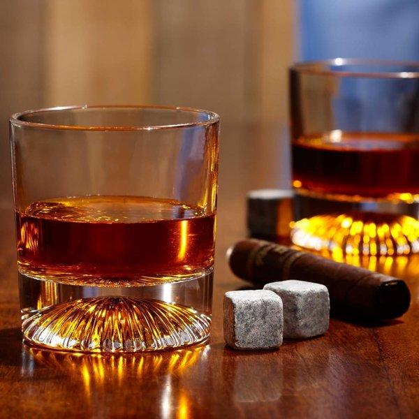 Verre à whisky Pyramide Globe on the Rocks Ancienne mode,  250 ml, ensemble de 4 de Brilliant