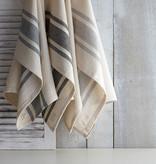 Harman Bistro Stripe Kitchen Towels, grey