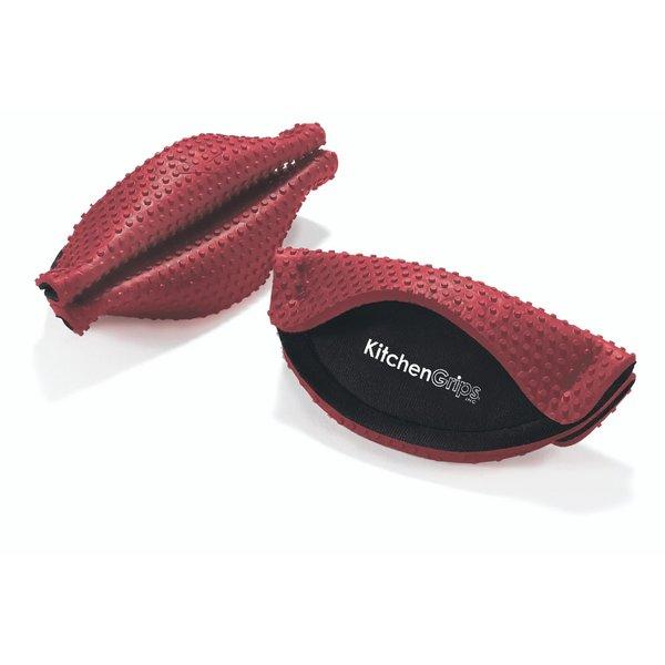 Poignée FLXaPrene ensemble de 2, rouge de KitchenGrips
