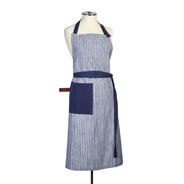 Harman Chambray Stripe Blue Apron