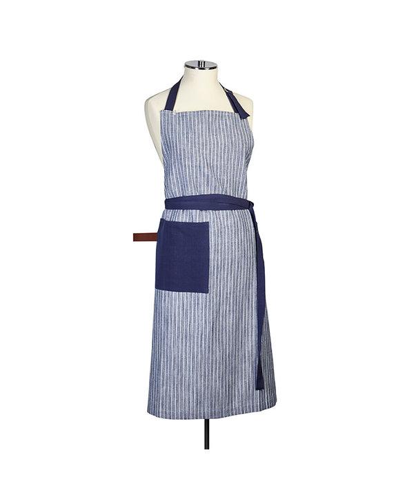 Harman Chambray Stripe Blue Apron