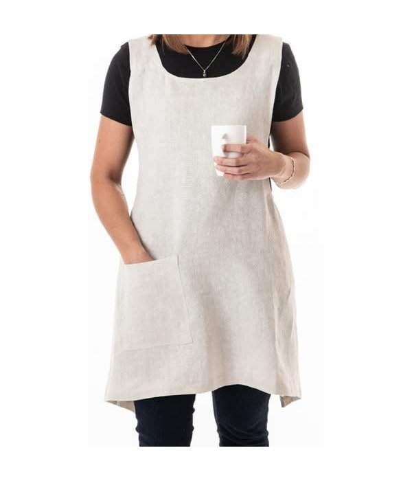 LINEN STONE WASH NATURAL APRON