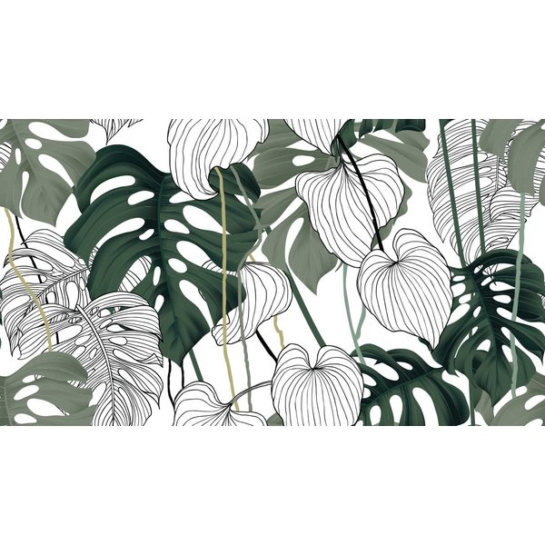 BAYOU MONSTERA LEAVES TABLECLOTH 60'' x 90''