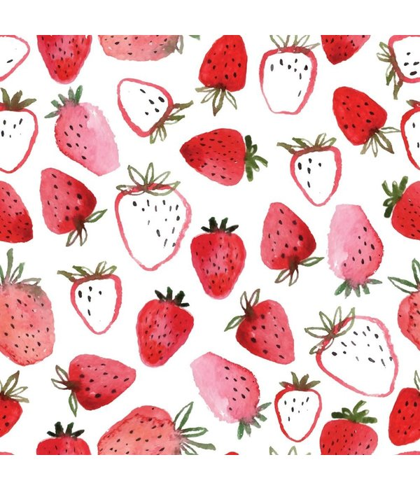 FRAISINETTE STRAWBERRY PRINTED TABLECLOTH 60'' x 90''