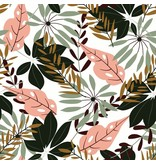"""NAPPE FEUILLAGE TROPICAL JUNGLE 60x108"""""""