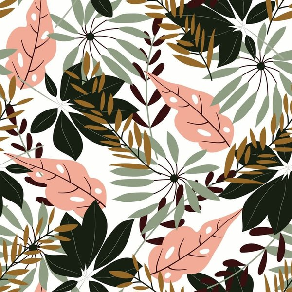 """JUNGLE TROPICAL LEAVES TABLECLOTH 60x108"""""""