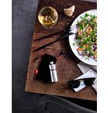 Peugeot Moulin à poivre compact Peugeot en acier inoxydable avec manchon protecteur en feutre, 10 cm