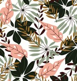 """NAPPE FEUILLAGE TROPICAL JUNGLE 60x90"""""""