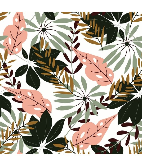 """JUNGLE TROPICAL LEAVES TABLECLOTH 60x90"""""""
