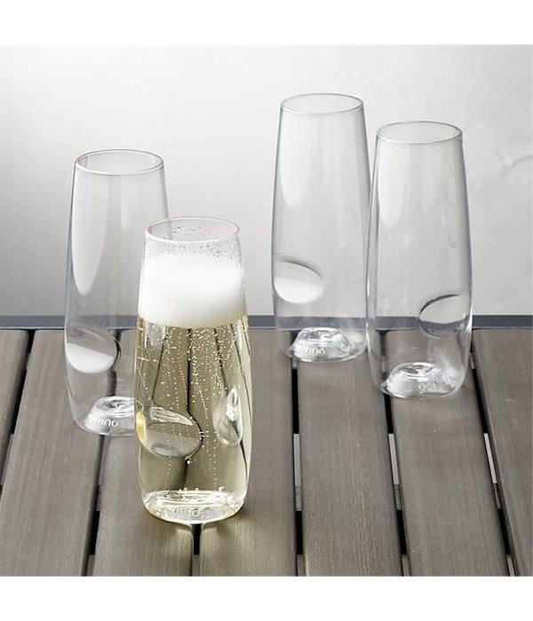 Govino DS Flute Glass, 8oz  (4pk gift box)