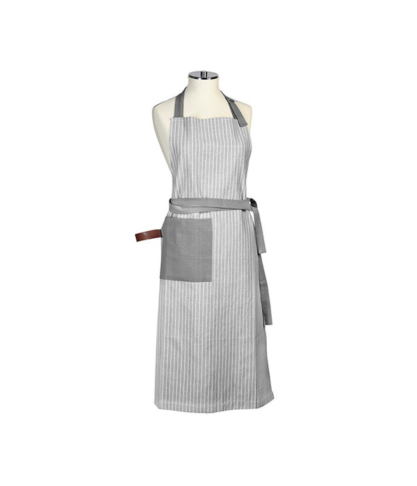Harman Chambray Stripe Grey Apron