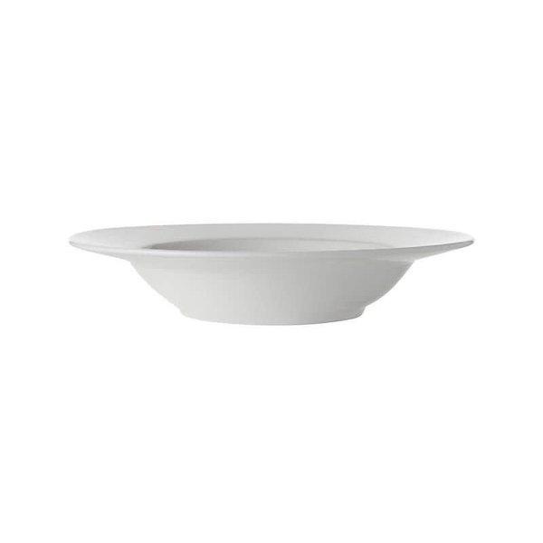 Maxwell & Williams White Basics Rim Soup Bowl 23cm