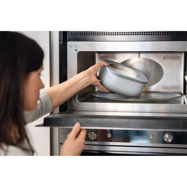 Guzzini STORE&MORE - Shallow airtight fridge/freezer/microwave containers, L, Dark grey