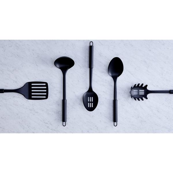 Safdie Gourmet Black Stainless Steel Pasta Spoon