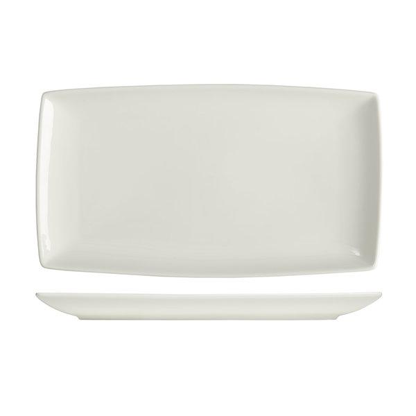 "Mann ""Essentials"" Rectangular plate  24x13 cm, white"