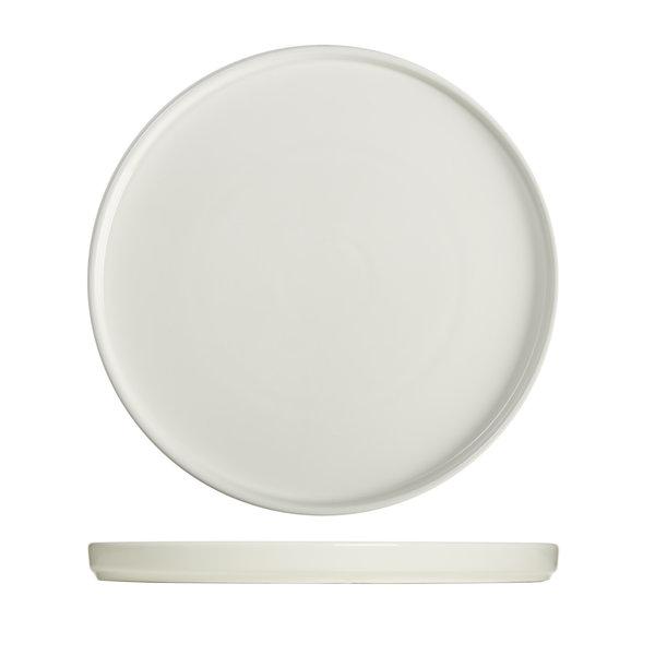 "Mann ""Essentials""  Cylindrical dinner plate  26,8cm, white"