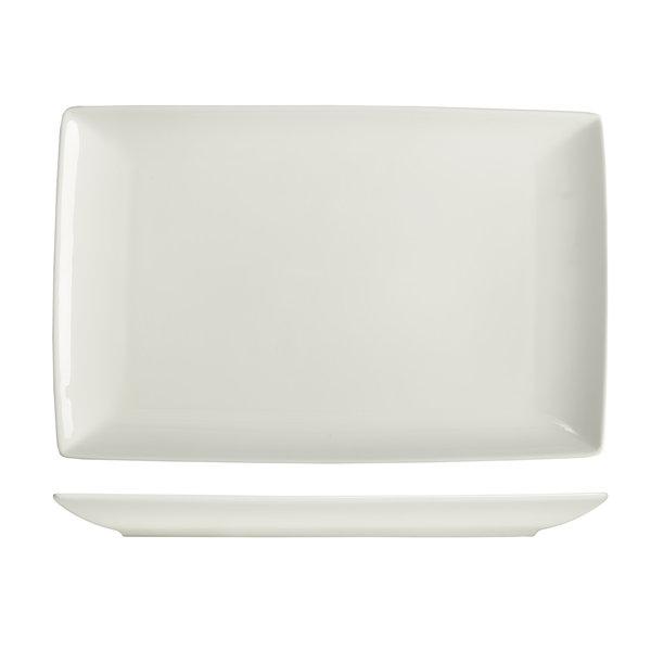 """Plat rectangulaire 32x21cm Blanc """"Essentials""""  de Mann"""