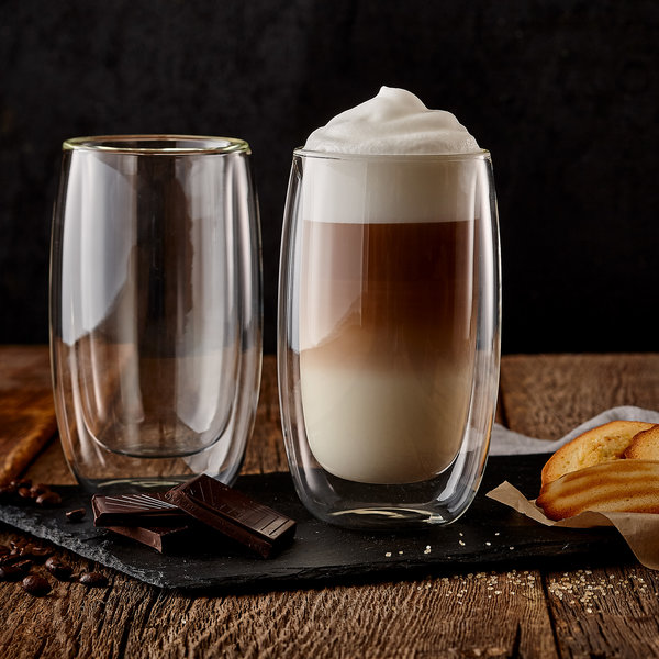 Tasse à café double paroi Macchiato 380 ml, lot de 2 de Barista+