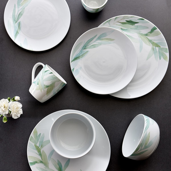H2K 16pcs Foliage dinnerware set