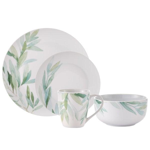 H2K 16pcs Foliage dinnerware set