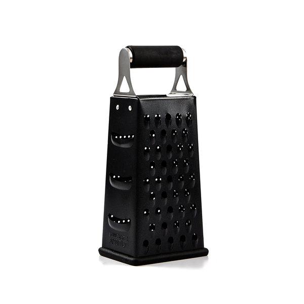 Safdie Gourmet 4-sided stainless steel grater, black