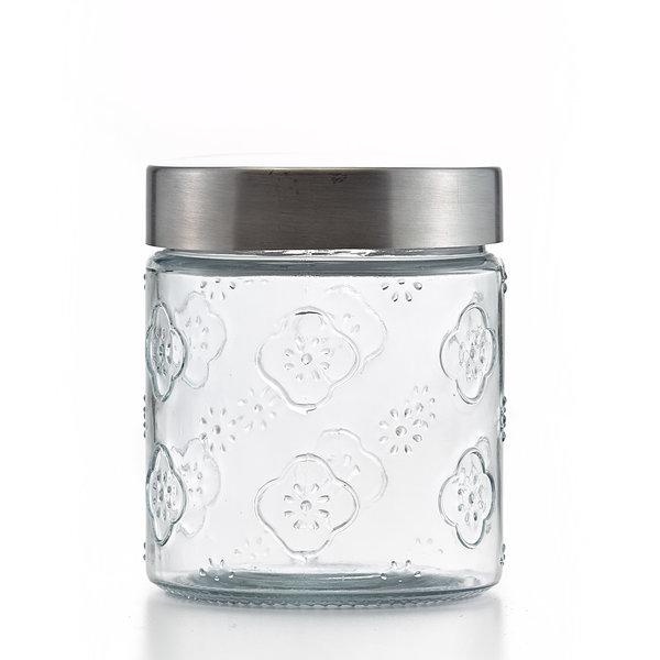Alhambra Glass jar with metal lid 900ml