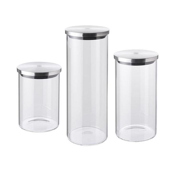 ZWILLING STORAGE 3 PIECE GLASS STORAGE JARS, S,M,L