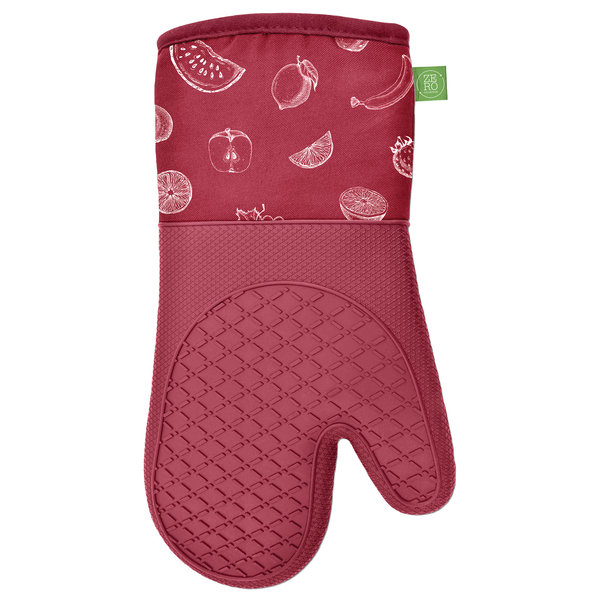 """silicone&cotton Red oven mitts 13"""", set of 2"""