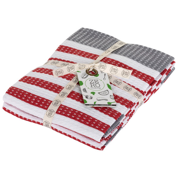 Dish towel 100% cotton, 51x71cm, set of 2, red