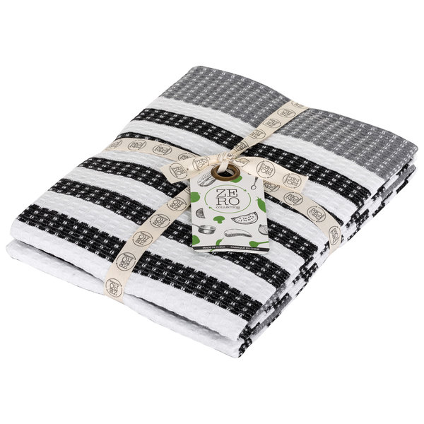 Dish towel 100% cotton, 51x71cm, set of 2, black